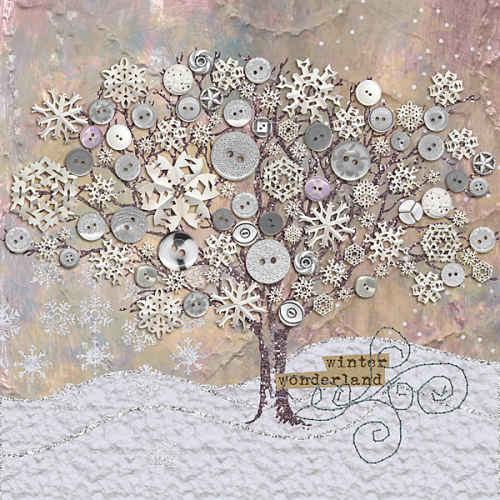 Winter-Wonderland art from O Scrap - The Scrapbook Room